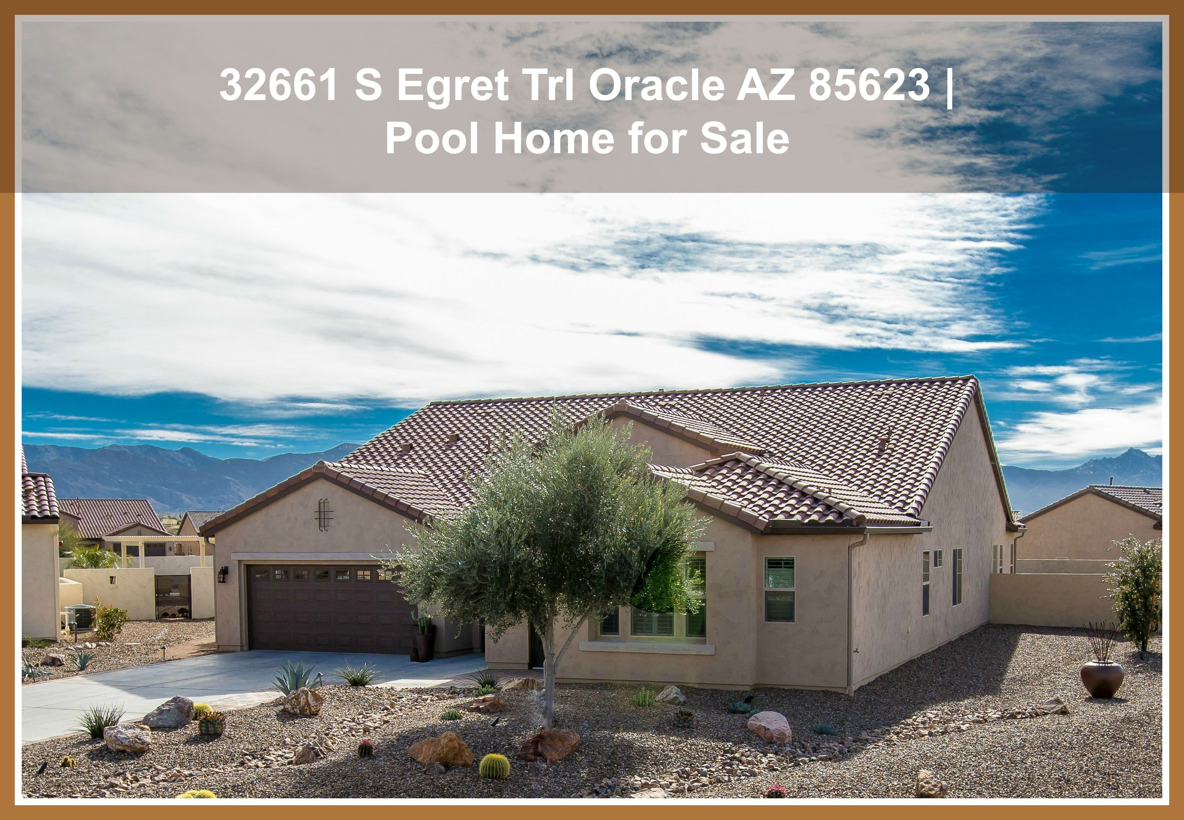 32661 s egret trl oracle az 85623 pool home for sale