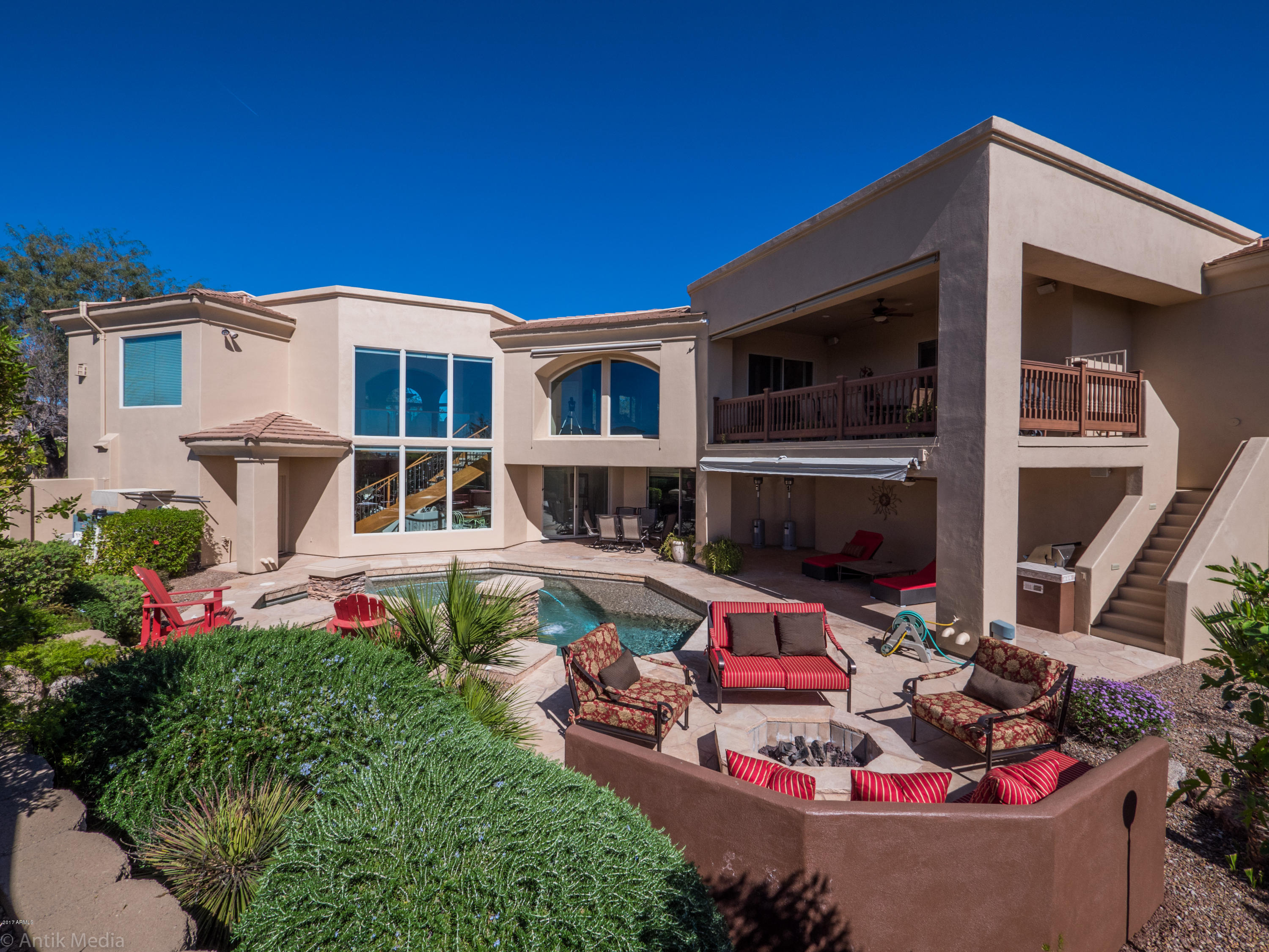 4 br 5 ba custom luxury home in las sendas black rock for Homes with basements in arizona