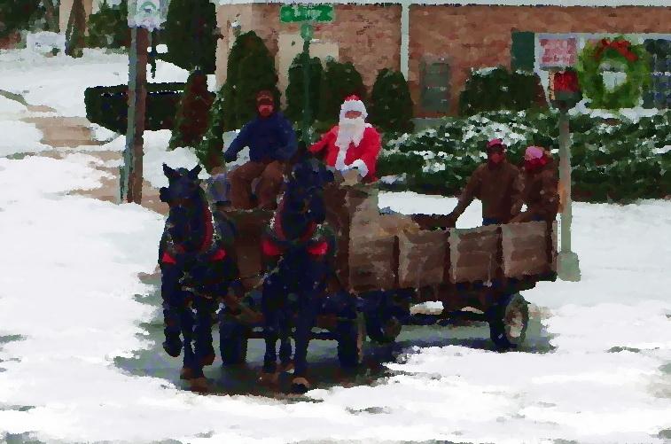 Hayride and santa new milford ct december