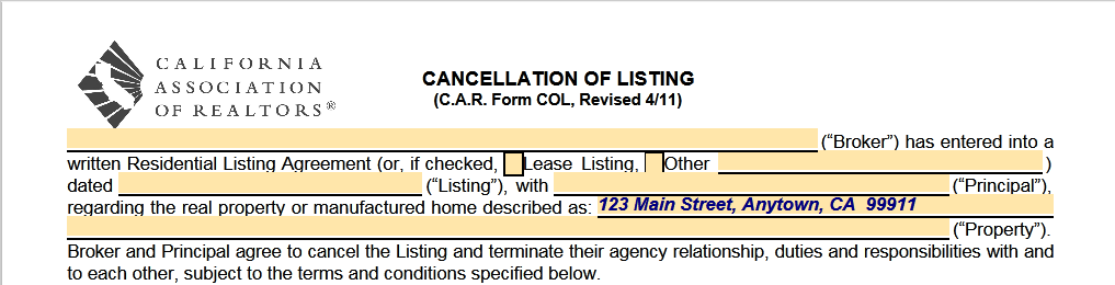YES, You CAN Cancel A Real Estate Listing Agreement in