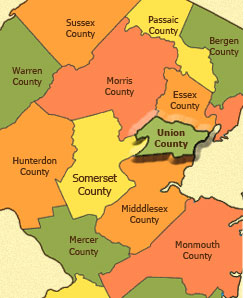 Union County New Jersey Real Estate Homes For Sale - County maps of new jersey