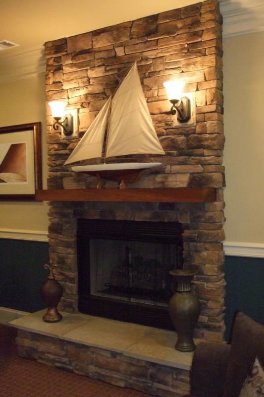 Fireplace sconces
