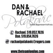 Dan & Rachael Polakovic with The Team, London Ontario Real Estate Professionals (Realty Executives Elite Ltd Brokerage)