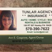 Tunlar Agency, Specializing in Homeowners Insurance (Ann Cosgrove, Agent/Owner)