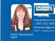 "Edith "" Edi "" Davenport, Your Realtor For Life (Coldwell Banker, Conroy, Marable & Holleman)"