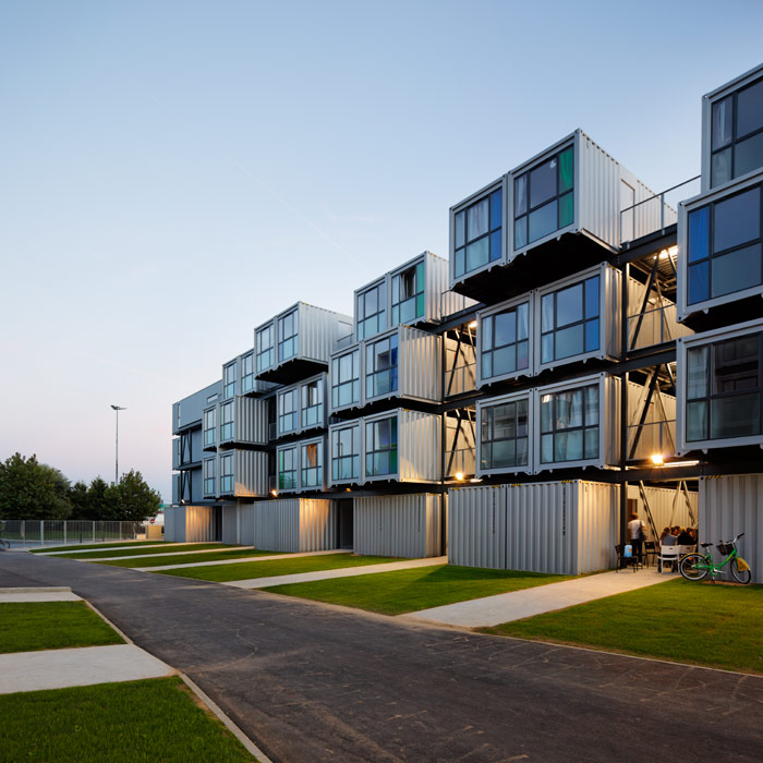 Arkitema Architects Designs 30 Shipping Container Apartments in Roskilde,  Denmark, Courtesy of Arkitema Architets