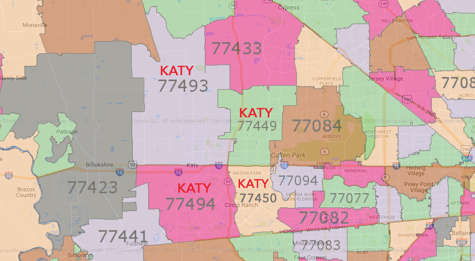 Demographics By Zip Code Map.A Look At Katy Texas Demographics By Zip Code
