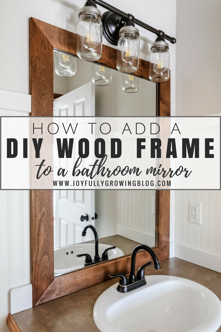 HOW TO DIY A WOOD FRAME MIRROR