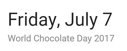 world chocolate day 2017