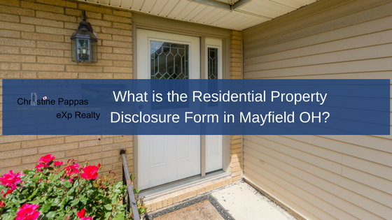 What Is The Residential Property Disclosure Form In