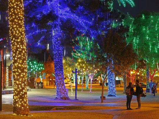 Christmas Light Displays: Map for Phoenix Arizona Metro