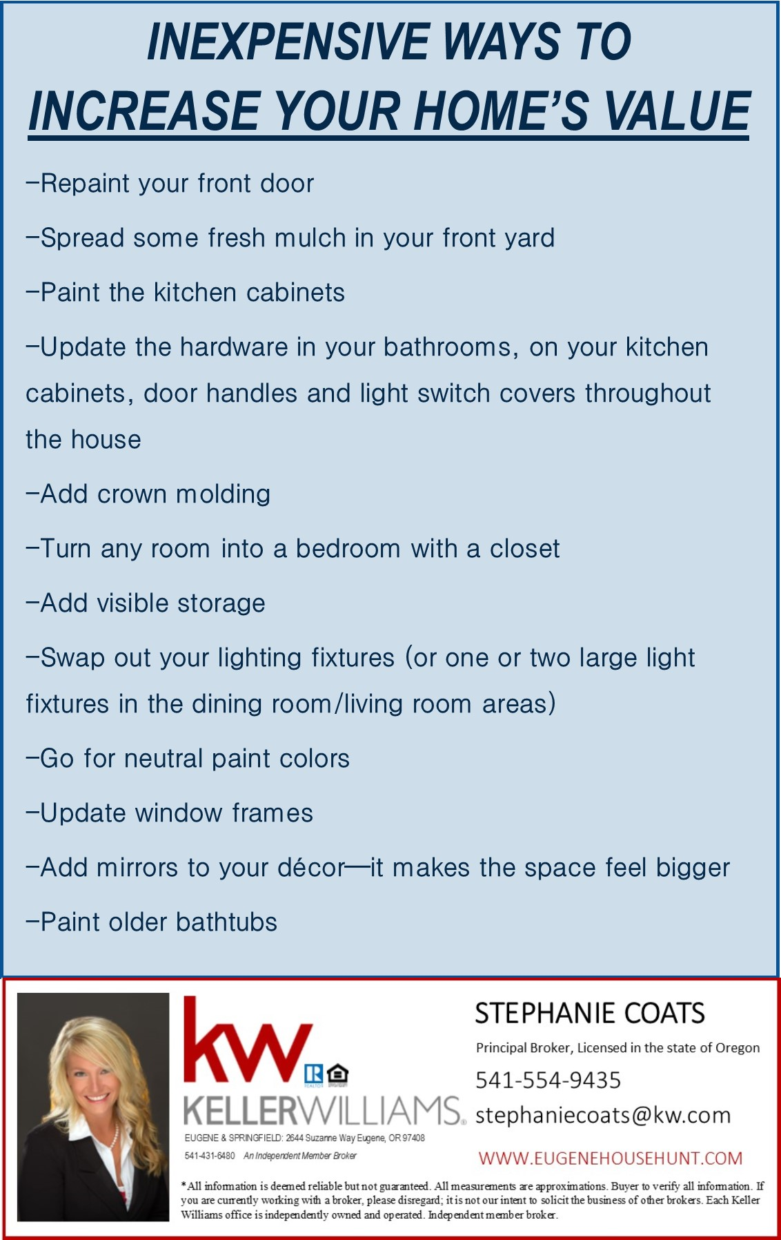 Inexpensive Ways To Increase Your Home 39 S Value
