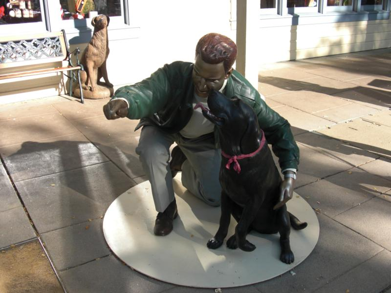 Man & Dog Statue, Pleasanton, CA