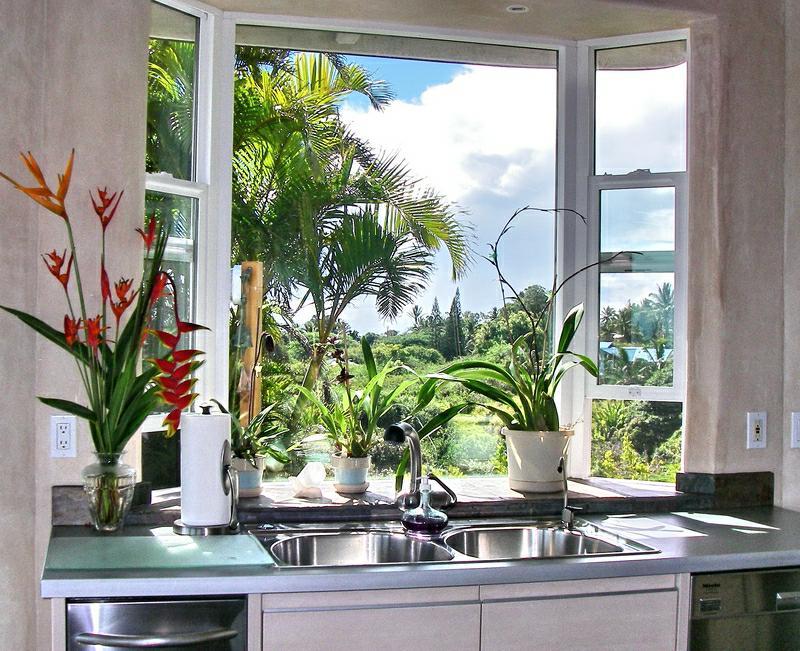 Huelo maui hawaii beautiful custom home for sale for Kitchen windows for sale