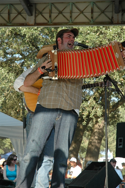 Wilson Savoy with the Pineleaf Boys at Festivals Acadiens 2010