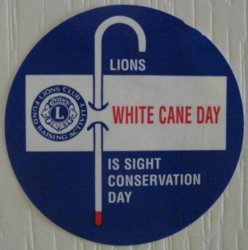 Lions White Cane Day- January 28 & 29, 2010