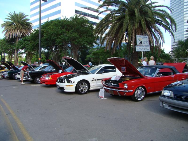 Mustang Car Show Downtown Jacksonville Florida