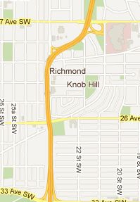 Calgary Infill Community - Richmond Park Knob Hill