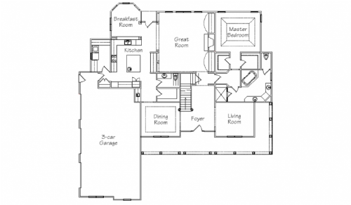 New England Homes Windham floor plan first floor