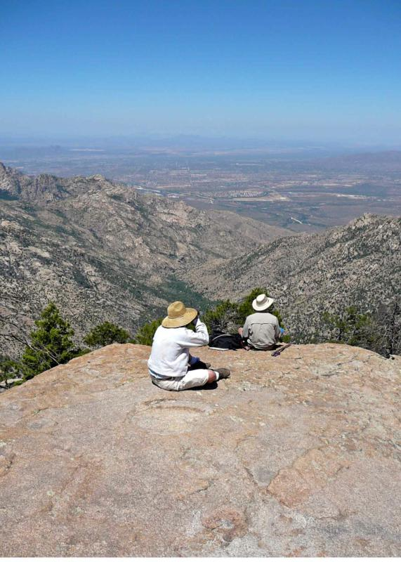 Looking into Pinal County, AZ from atop Pusch Ridge
