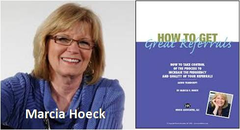 Marcia Hoeck of A Purposeful Business will provide insight into running a small business.