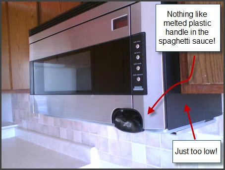 Distance Between Countertop And Stove : How high should that Microwave be?