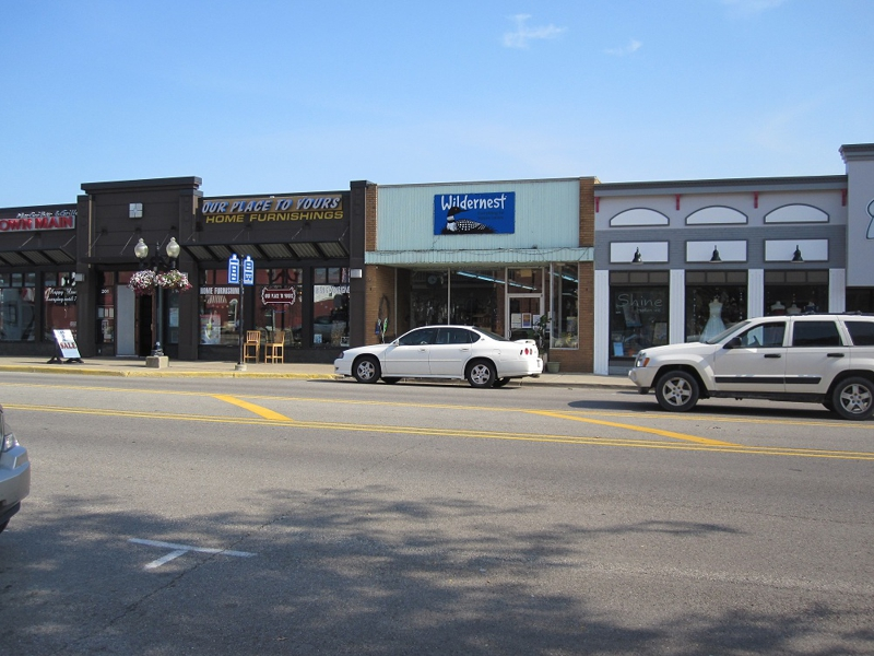 Stores in downtown Brighton Michigan