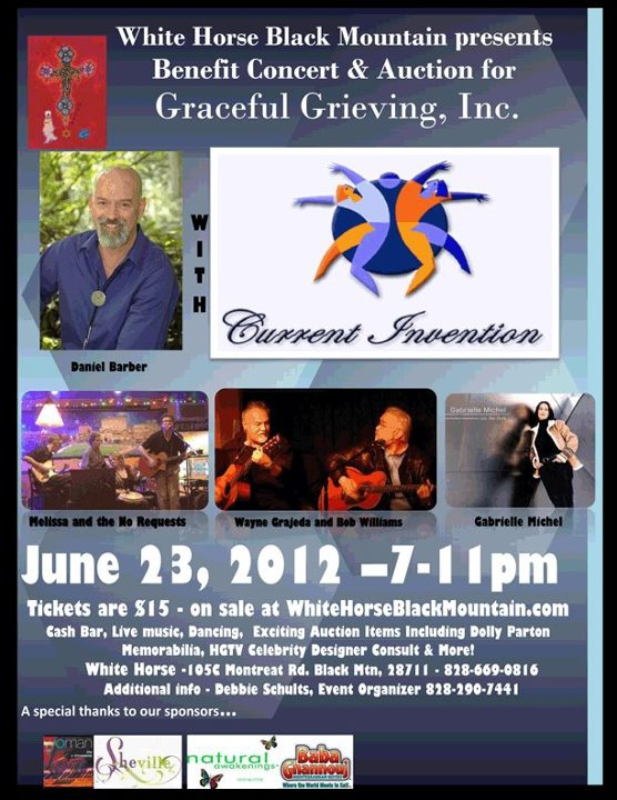 benefit Concert for Graceful Grieving June 23rd white horse black mountain sc