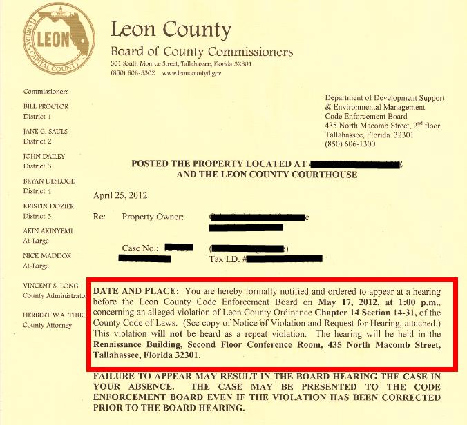 Leon County Property Permits