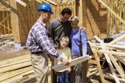 contractor with family