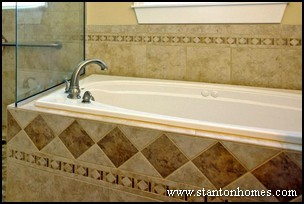 Tile Tub Surrounds | New Home Ideas | Tile Master Bath Ideas | New Homes  Raleigh