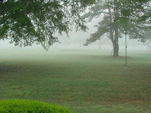 Searcy golf course in fog