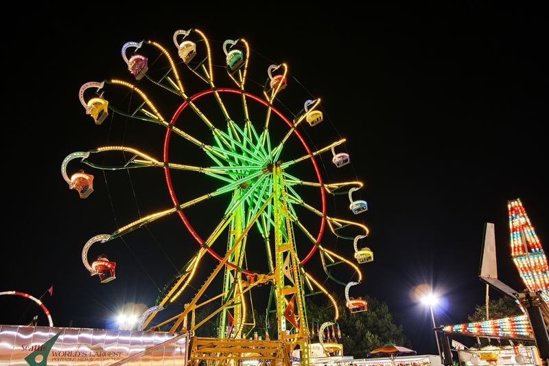 North Georgia State Fair Ferris Wheel 2 Night Photography by Real Estate Photographer Iran Watson Real Estate Agent in Marietta GA 770-363-3350