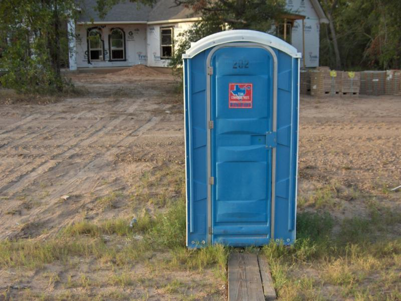 New homes porta potties localism art perspectives for Porta johns for sale