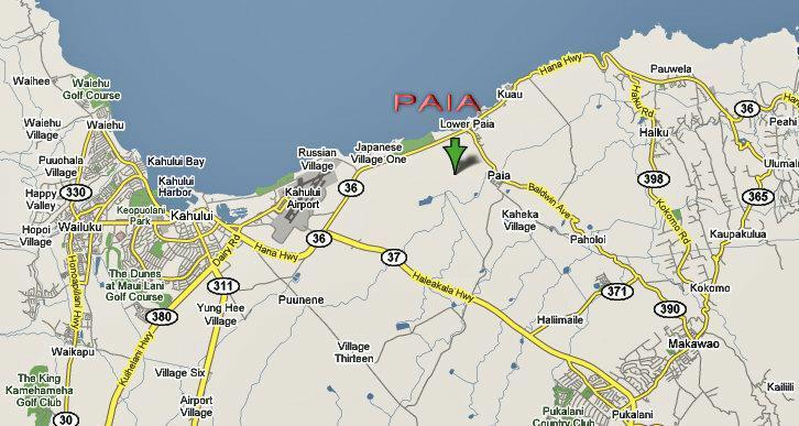 Maui Map Series Paia Maui Hawaii 96779