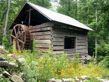 hickory nut forest eco community old photo of a grist  mill