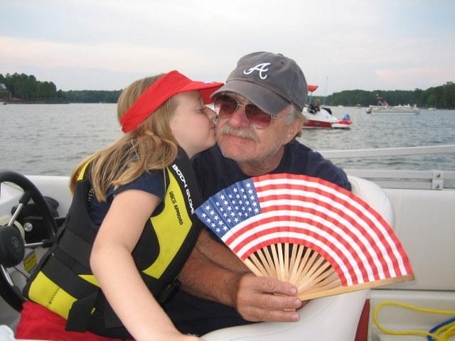 Lake Oconee 4th of July Kiss