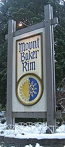 Mt Baker Rim Sign