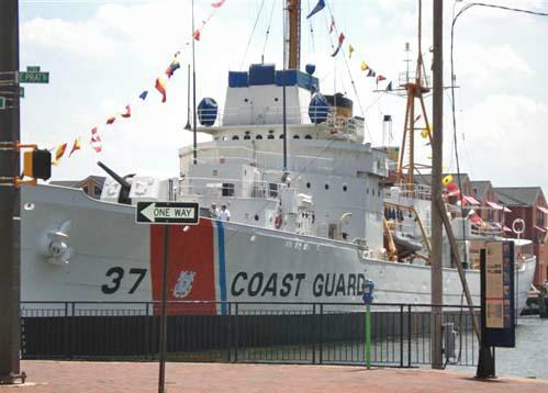 Coast Guard Cutter in Baltimore