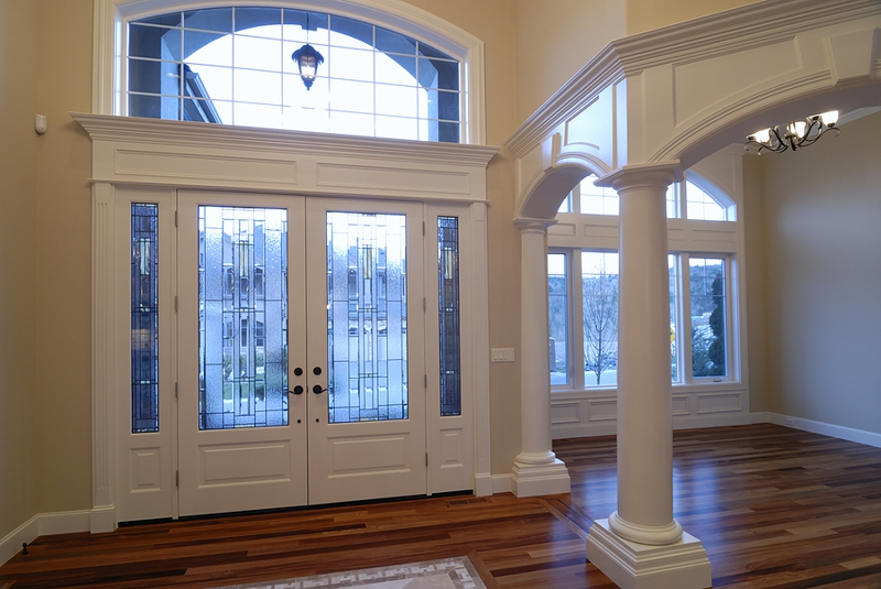 Grand entrances to luxury homes
