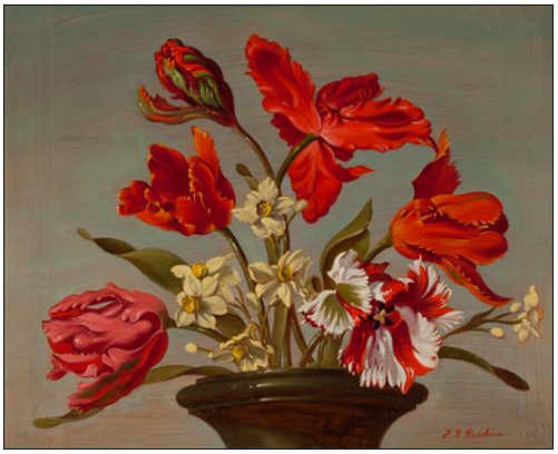 Franklin H. Redelius - Parrots, Tulips, and Daffodils