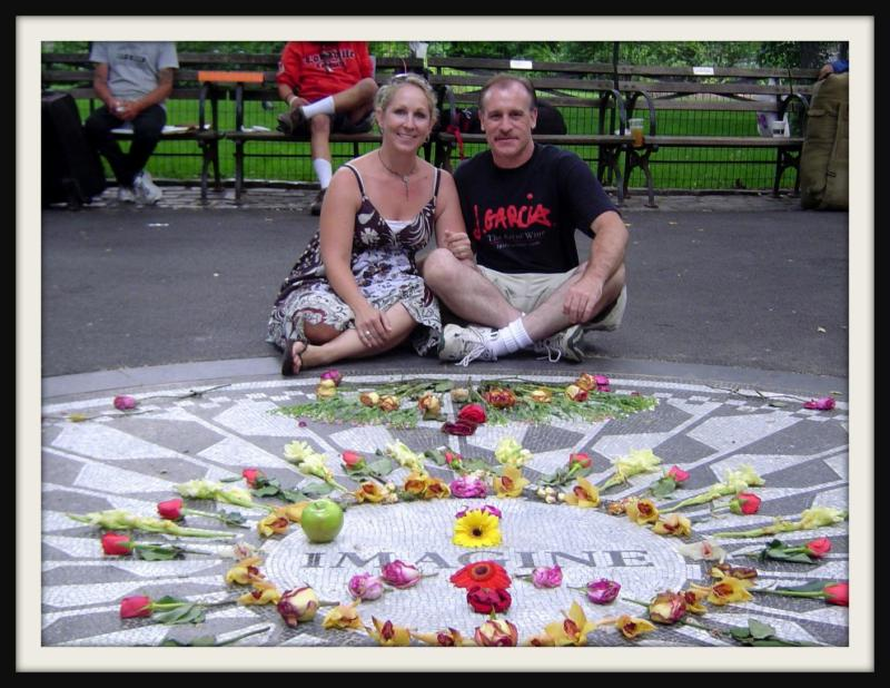 Christy and Me at the John Lennon Memorial in Central Park