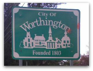 City of Worthington sign