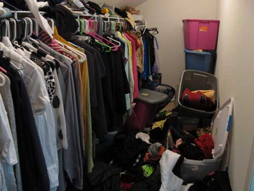 Closet Before - view 1