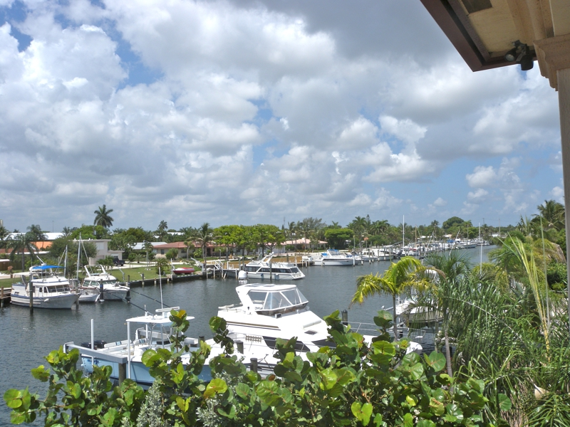 Waterfront Property Boat Dock Boynton Beach Florida