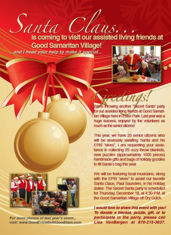 holiday secret santa flyer