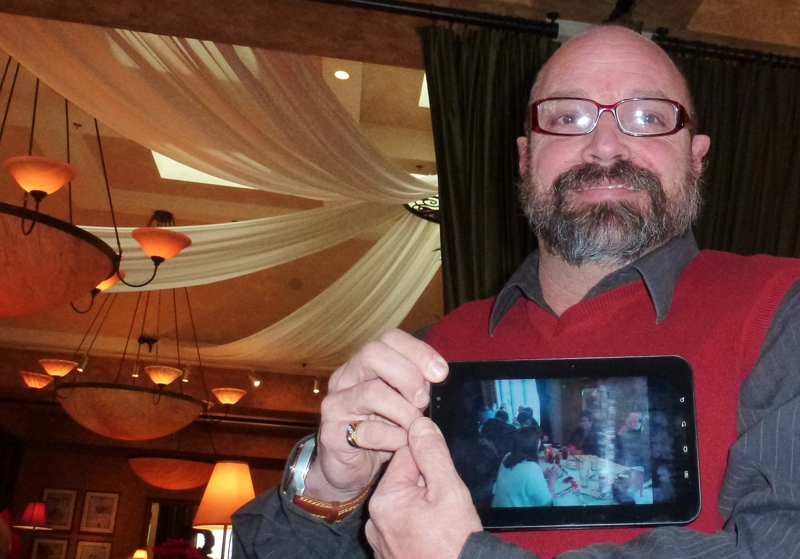 Gerry with tablet