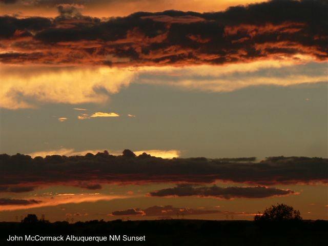 West Mesa Sunset In Albuquerque