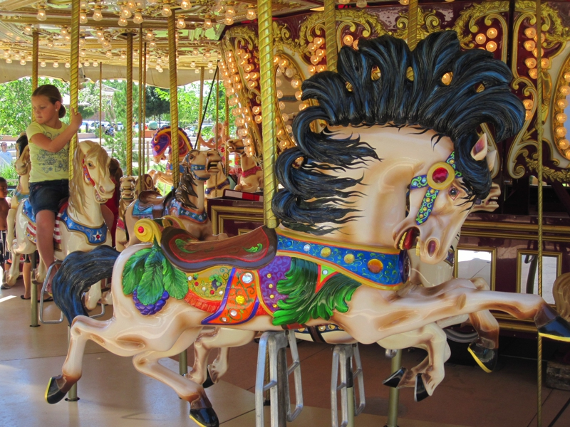 carousel in Town Square-St George Utah