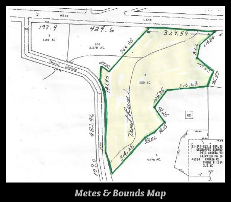 Erie pa real estate classes legal description of land for Metes and bounds